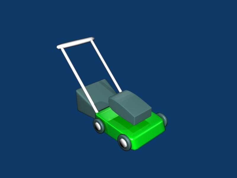 3d lawnmower lawn mower