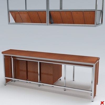 3d kitchen counter model