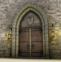 medieval doors example blend