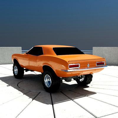 Offroad Muscle Car 3d Model