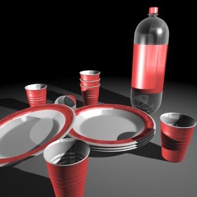 3d cups party