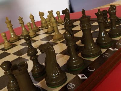 chess v-ray 3d max