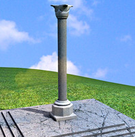 3d antique column