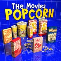 pop corn 01 3d model