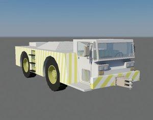 pushback aircraft airport 3d model