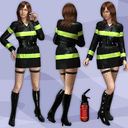 firefighter uniform 3D models
