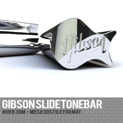gibson slide tonebar 3d 3ds