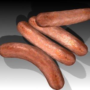 3d sausage model
