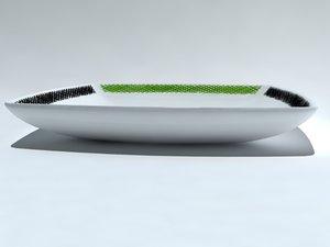 small dish plato 3d max