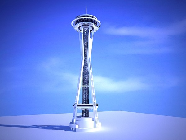 3ds max seattle space needle