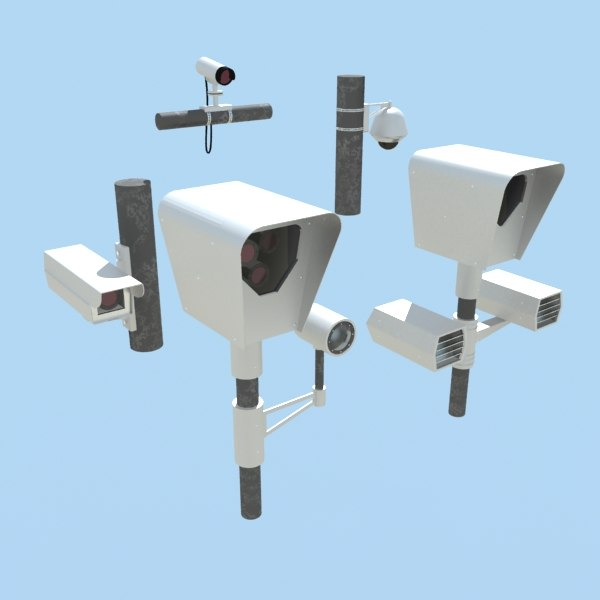 3d model street cameras