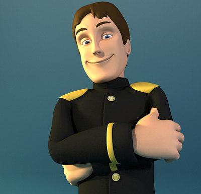 character rigged uniform max