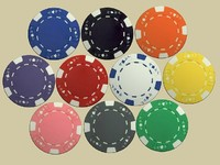 max black jack poker chips