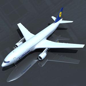 3d model of airbus 300 lufthansa