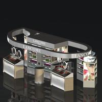 3d loreal lancome stand