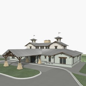 country club house 3d model