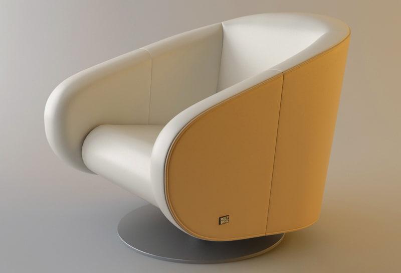 3d rolf benz 310 armchair sofa