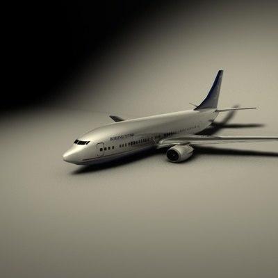 3d model airliner jet
