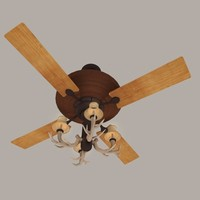 antler ceiling fan 3d model