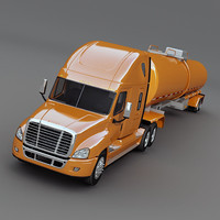 Freightliner cascadia with tank