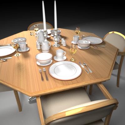 maya dinning table set plate