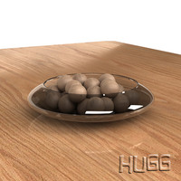 Glass bowl_wood spheres_VRAY