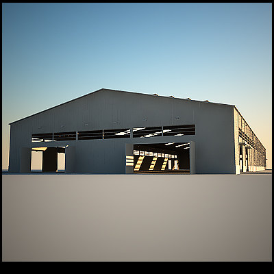 3ds max hangar storage windows doors