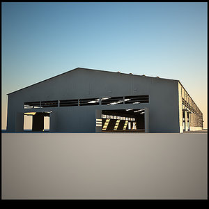 3ds max hangar storage windows doors