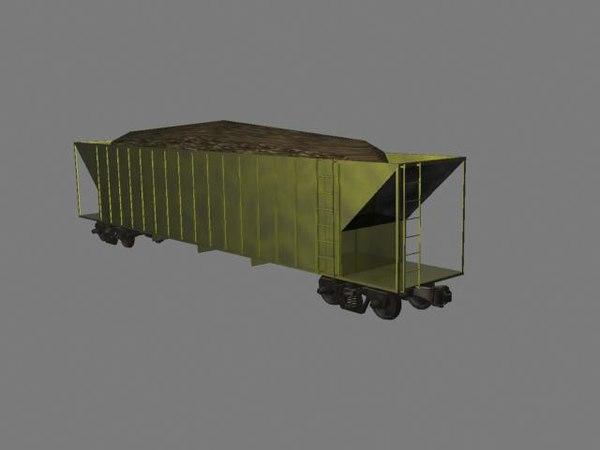 3d model coal hopper freight