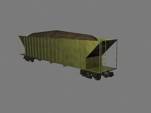 3d model coal hopper freight
