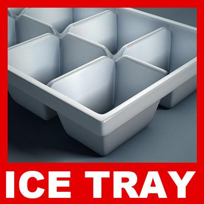 plastic ice tray 3d model