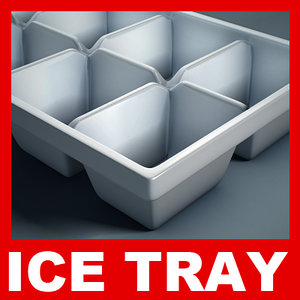 plastic ice tray 3d model