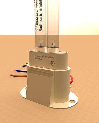3d germicidal uv lamp