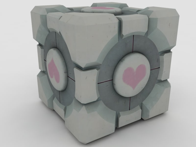 3d weighted companion cube model