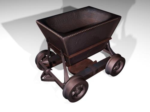 3d minewagon wagon model