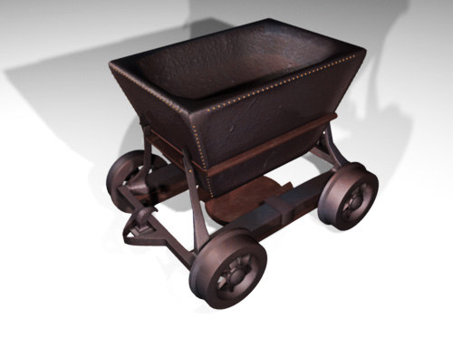 3d minewagon wagon model