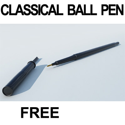 free c4d model classical ball pen classicalballpen