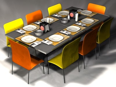 c4d table set