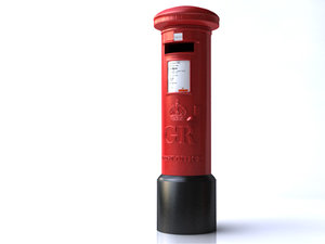 royal mail box 3d model