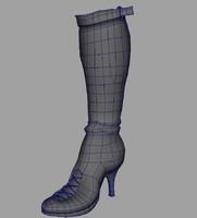 3d model boot
