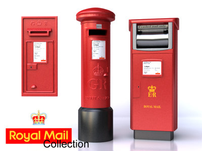 3d model royal mail boxes