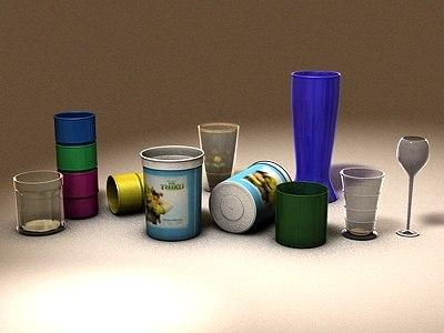 3d table glasses model