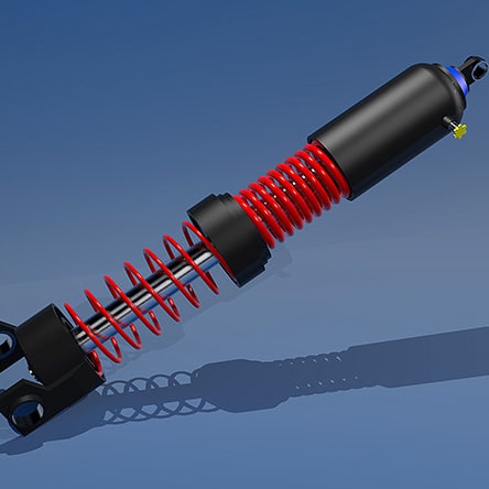3ds max double shock absorber