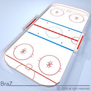 3dsmax hockey field