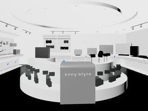 3dsmax electronics sony store