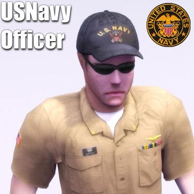 3d navy officer model