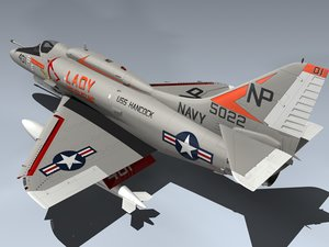 a-4f skyhawk 3d max