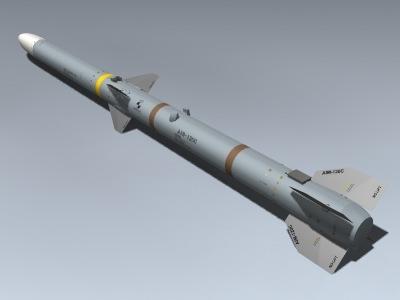 3d model aim-120c amraam