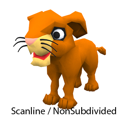 lion king young character games 3d model
