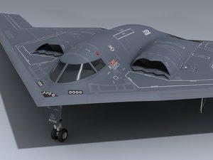 b-2 spirit 3d model